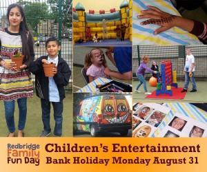 Children's entertainment at the Redbridge Family Fun Day